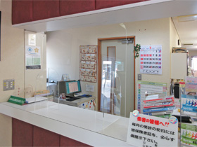設置例 アクリル板 飛沫防止壁 受付 レジ 窓口