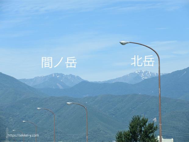 令和3年6月21日 雪解けの北岳・間ノ岳