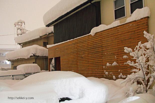 山梨県甲府市 吉野聡建築設計室 雪の日