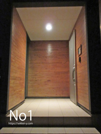 吉野聡建築設計室の玄関
