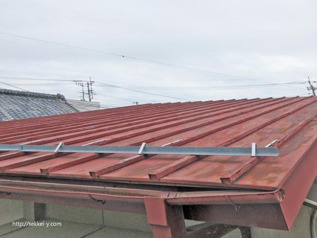 鋼板製屋根の塗装