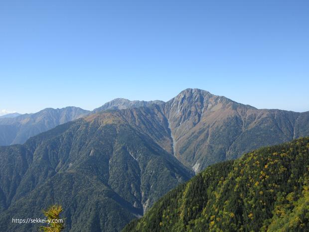 地蔵岳から見る北岳、間ノ岳、農鳥岳