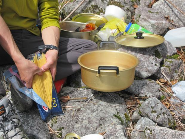 パノラマ新道でお湯を沸かす