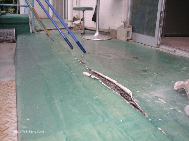 シート防水の剥離