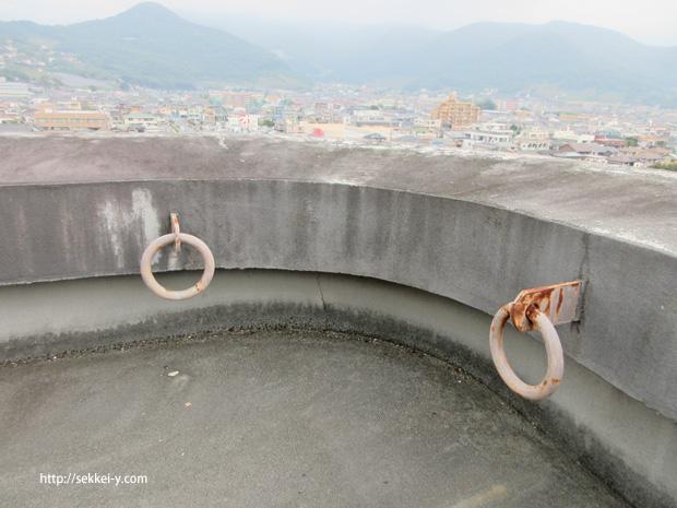 錆が発生している丸環