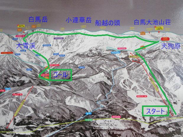 白馬岳 登山コース