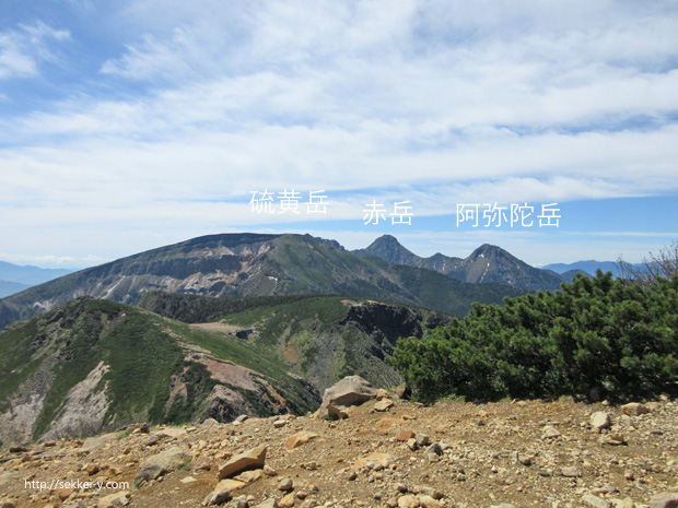 西天狗岳から見る八ヶ岳