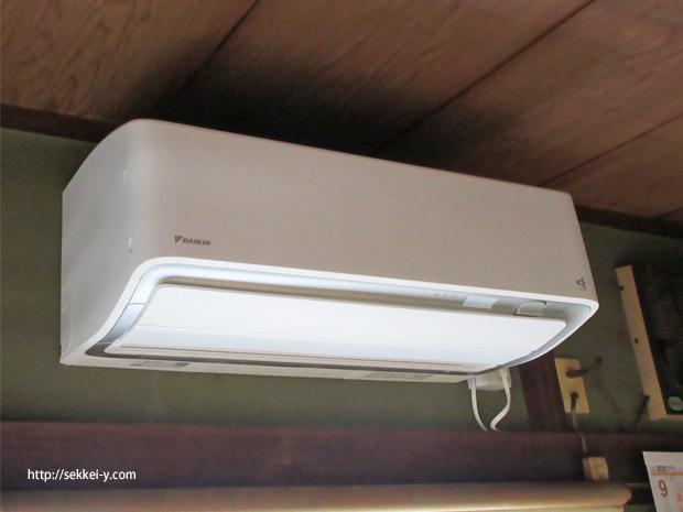 空気清浄機付のエアコン