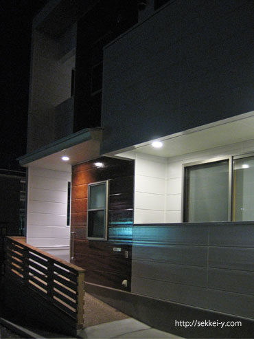 KUBOハウス'(夜)